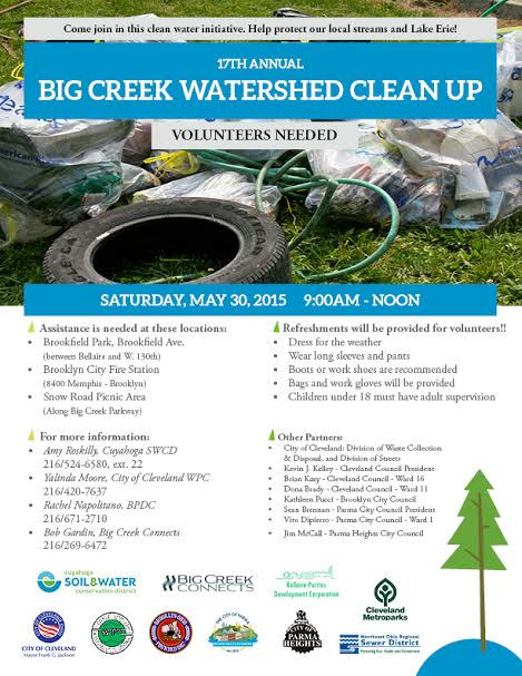 Watershed Cleanup 5/30/15